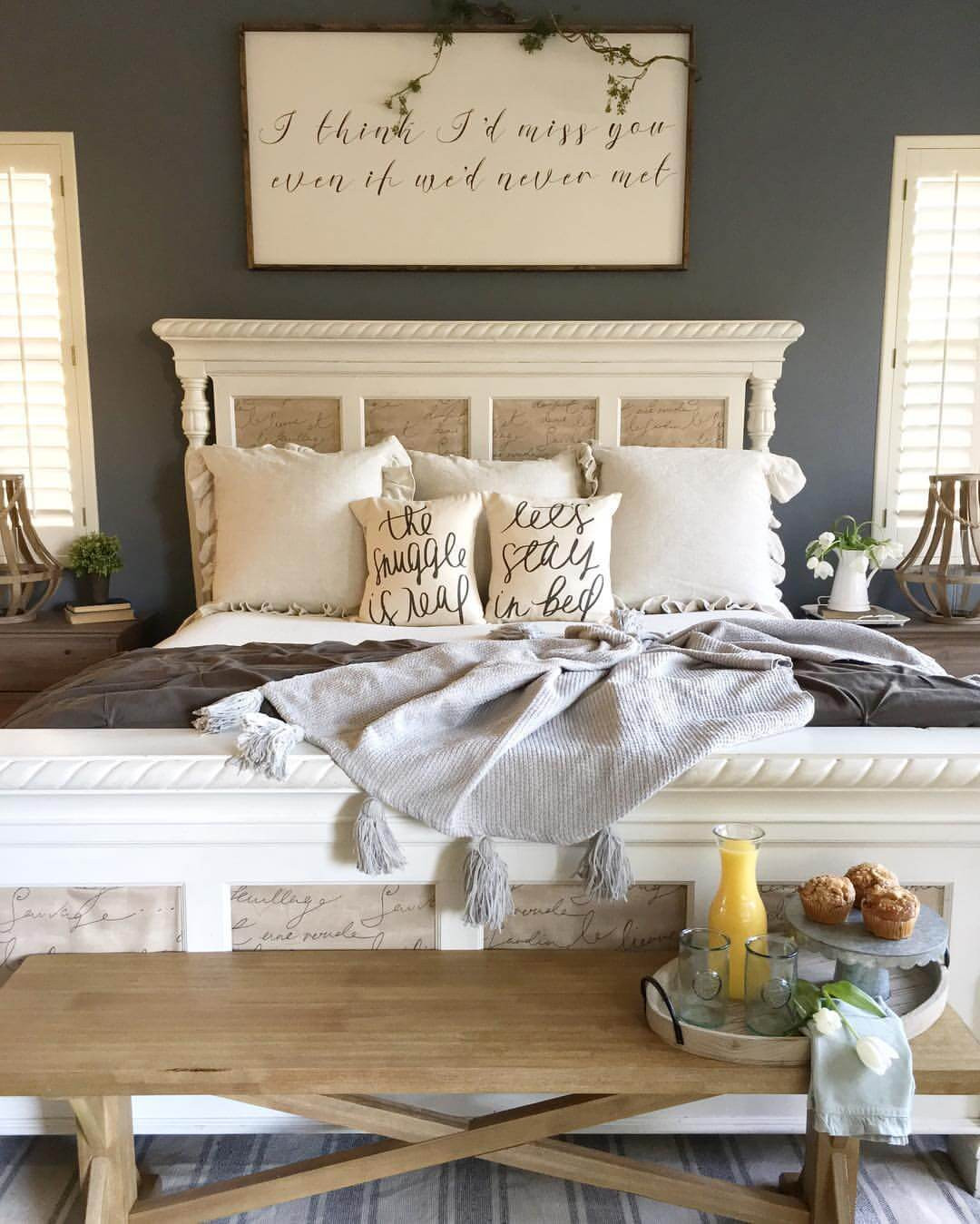 Best ideas about Farmhouse Bedroom Decor . Save or Pin 39 Best Farmhouse Bedroom Design and Decor Ideas for 2017 Now.