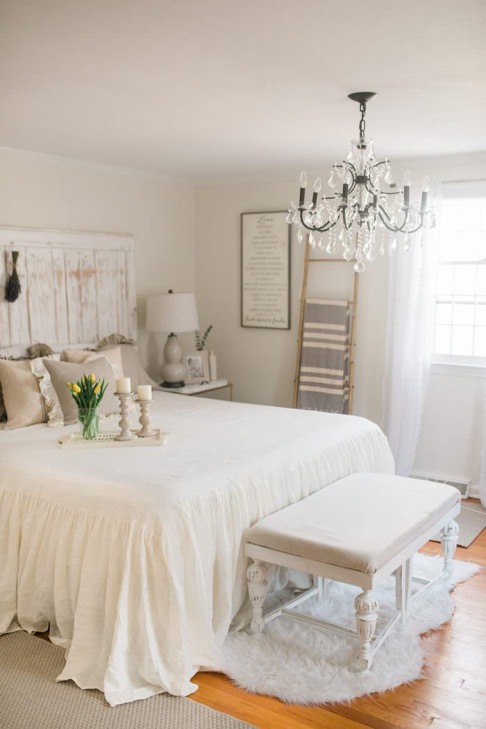 Best ideas about Farmhouse Bedroom Decor . Save or Pin French Country Farmhouse Decor Our Bedroom Lynzy & Co Now.