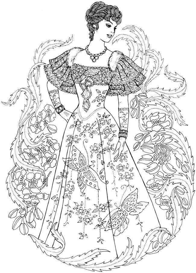 Fashion Adult Coloring Books  Creative Haven Art Nouveau Fashions Coloring Book Wel e