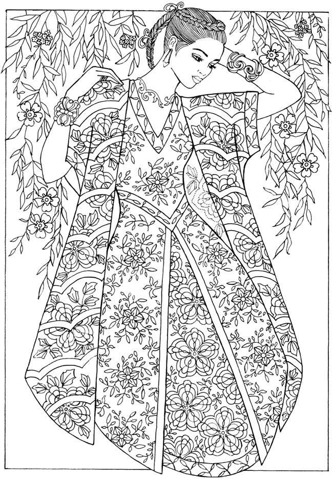 Fashion Adult Coloring Books  De 2524 bästa fashion coloring bilderna på Pinterest