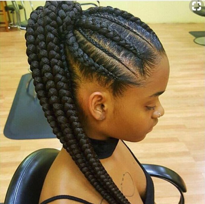 Feed In Braids Hairstyles  Attractive 8 Feed in Braids Ponytail for Women