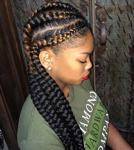 Feed In Braids Hairstyles  35 Absolutely Beautiful Feed In Braid Hairstyles