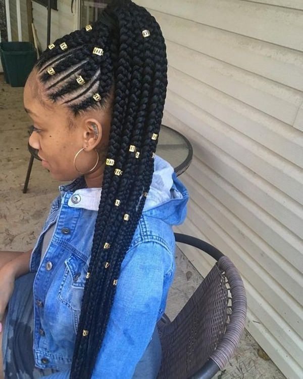 Feed In Braids Hairstyles  79 Gorgeous Feed in Braid Hairstyles to Choose From