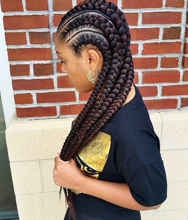Feed In Braids Hairstyles  31 best images about feed in braids on Pinterest