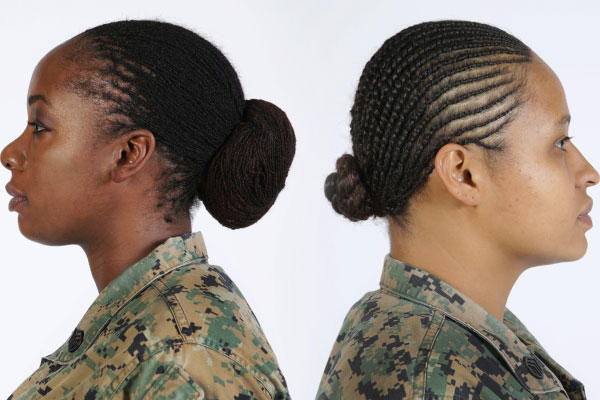 Female Army Hairstyles  Marine Corps Authorizes Twist and Lock Hairstyles for