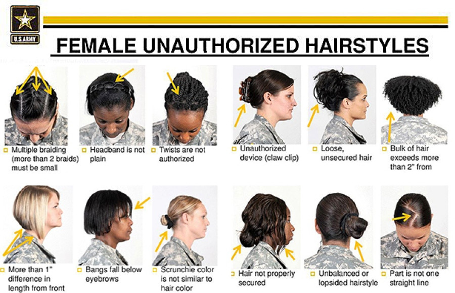 Female Army Hairstyles  After outcry Hagel orders review of female hairstyle