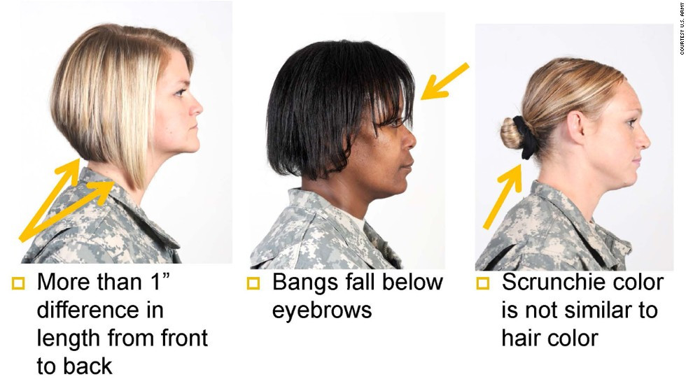 Female Army Hairstyles  Army s ban on dreadlocks other styles offends some