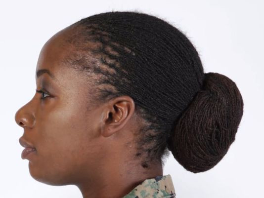 Female Army Hairstyles  Locks and twists authorized for female Marines hair