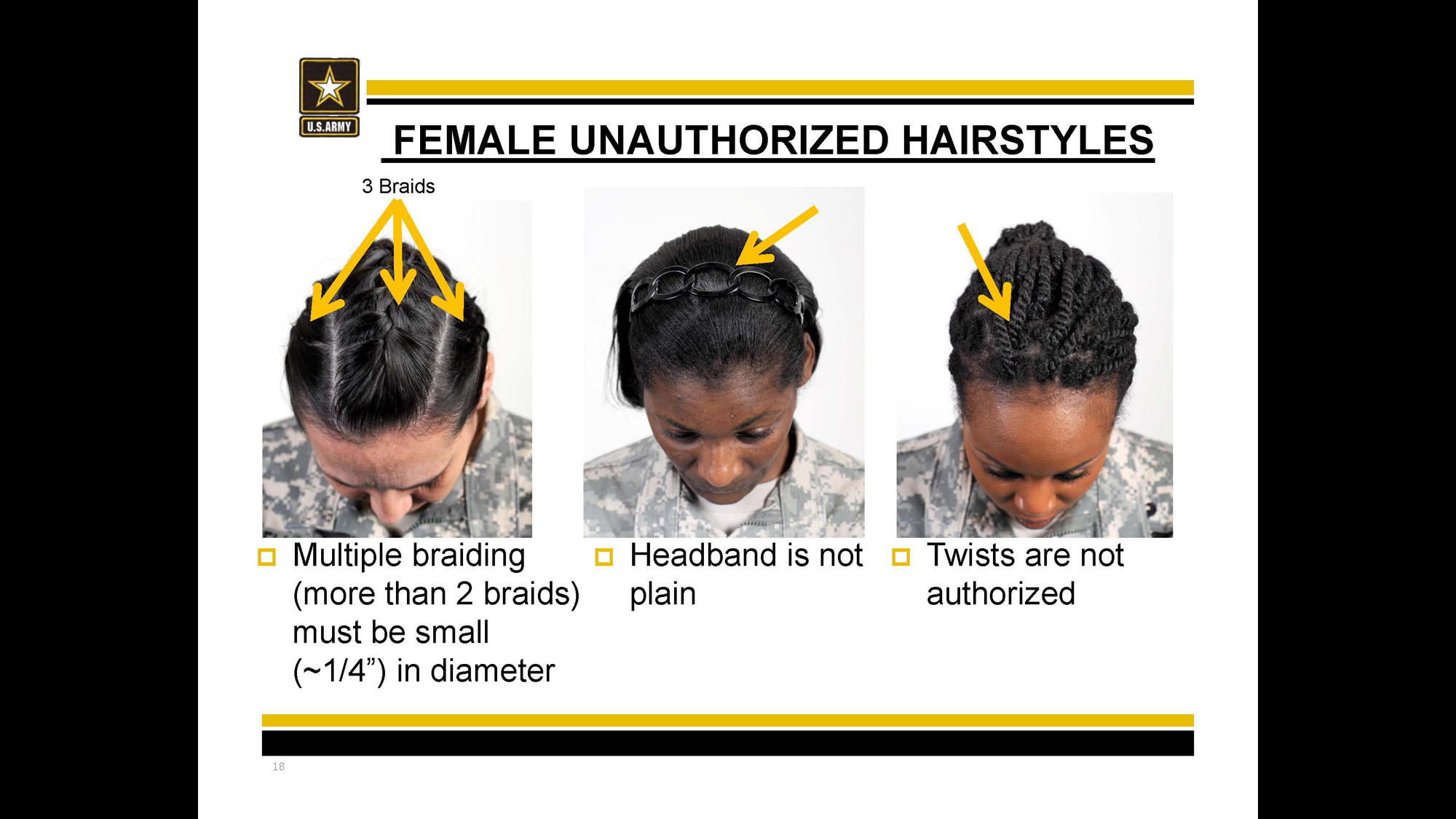 Female Authorized Hairstyles Army  Braids That Are Authorized In Army Hairstyle