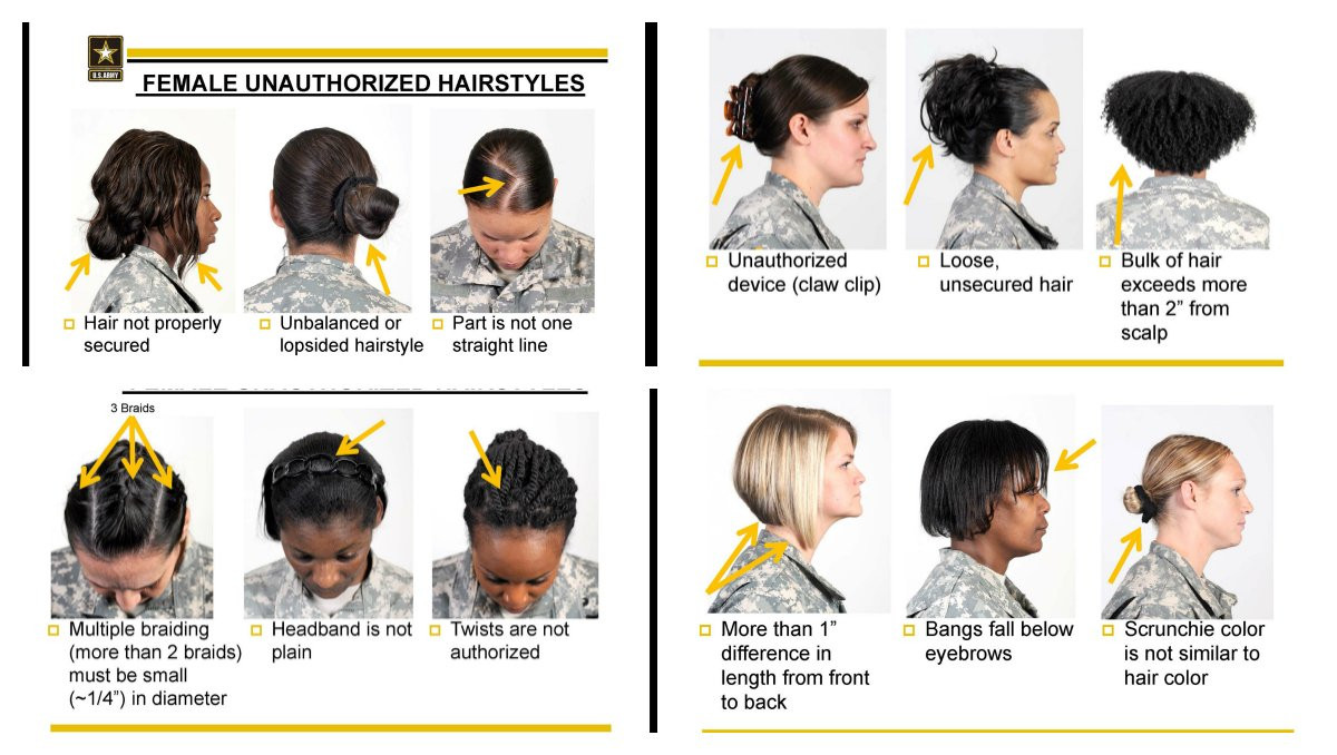 Female Authorized Hairstyles Army  Authorized Military Female Hairstyles