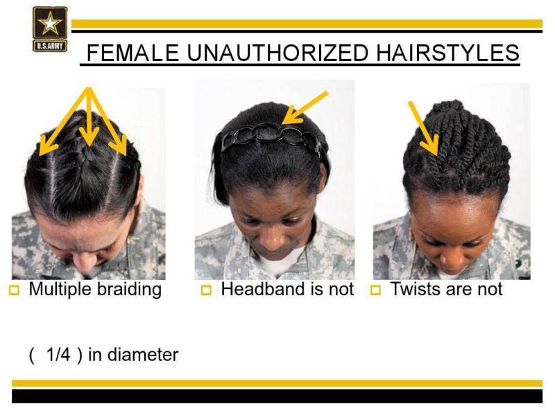 Female Authorized Hairstyles Army  Black Female Sol rs Say the Army s New Hair Rules Are Racist