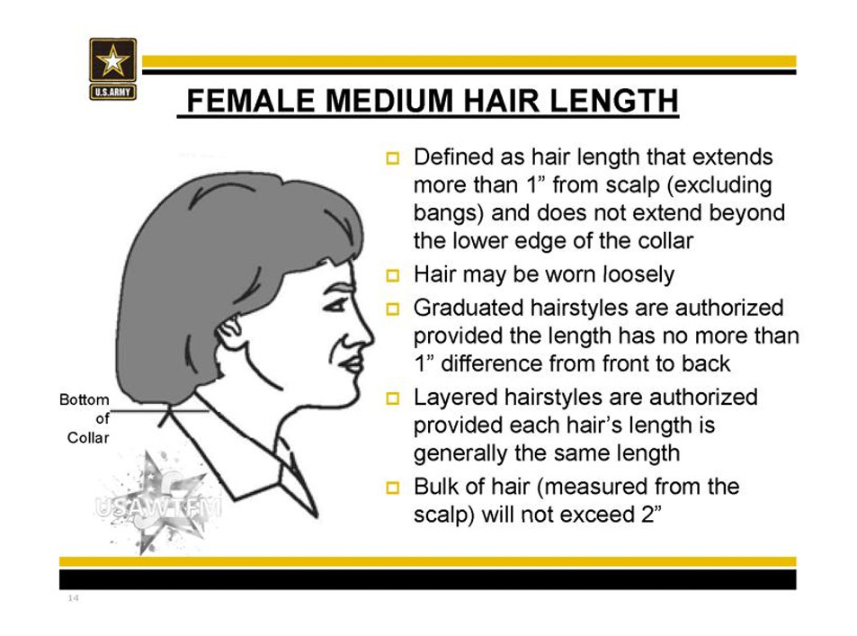 Female Authorized Hairstyles Army  The Mane Objective Do The New Army Regulations Unfairly