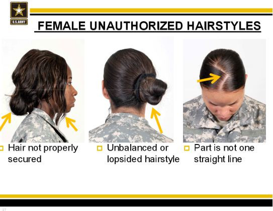 "Female Authorized Hairstyles Army  ""Female Unauthorized Hairstyles"" and the US Army"