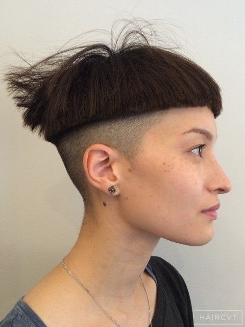 Female Bowl Haircuts  undercut hairstyle female Google zoeken