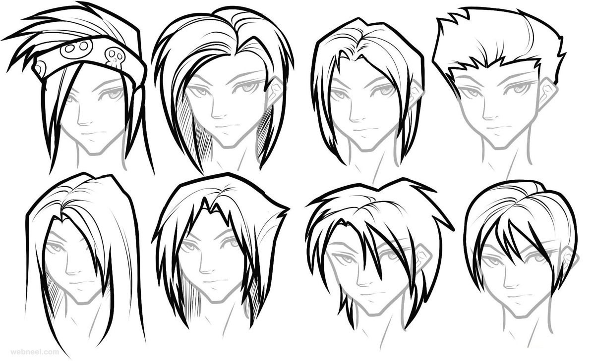 Best ideas about Female Hairstyles Anime . Save or Pin How To Draw Female Girl s Anime Hairstyles ⋆ Anime & Manga Now.