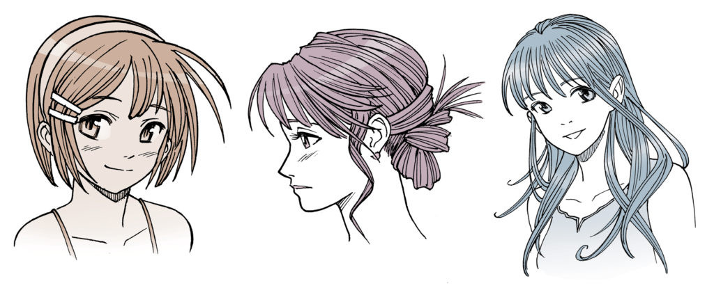 Best ideas about Female Hairstyles Anime . Save or Pin Drawing Anime Hair for Male and Female Characters IMPACT Now.