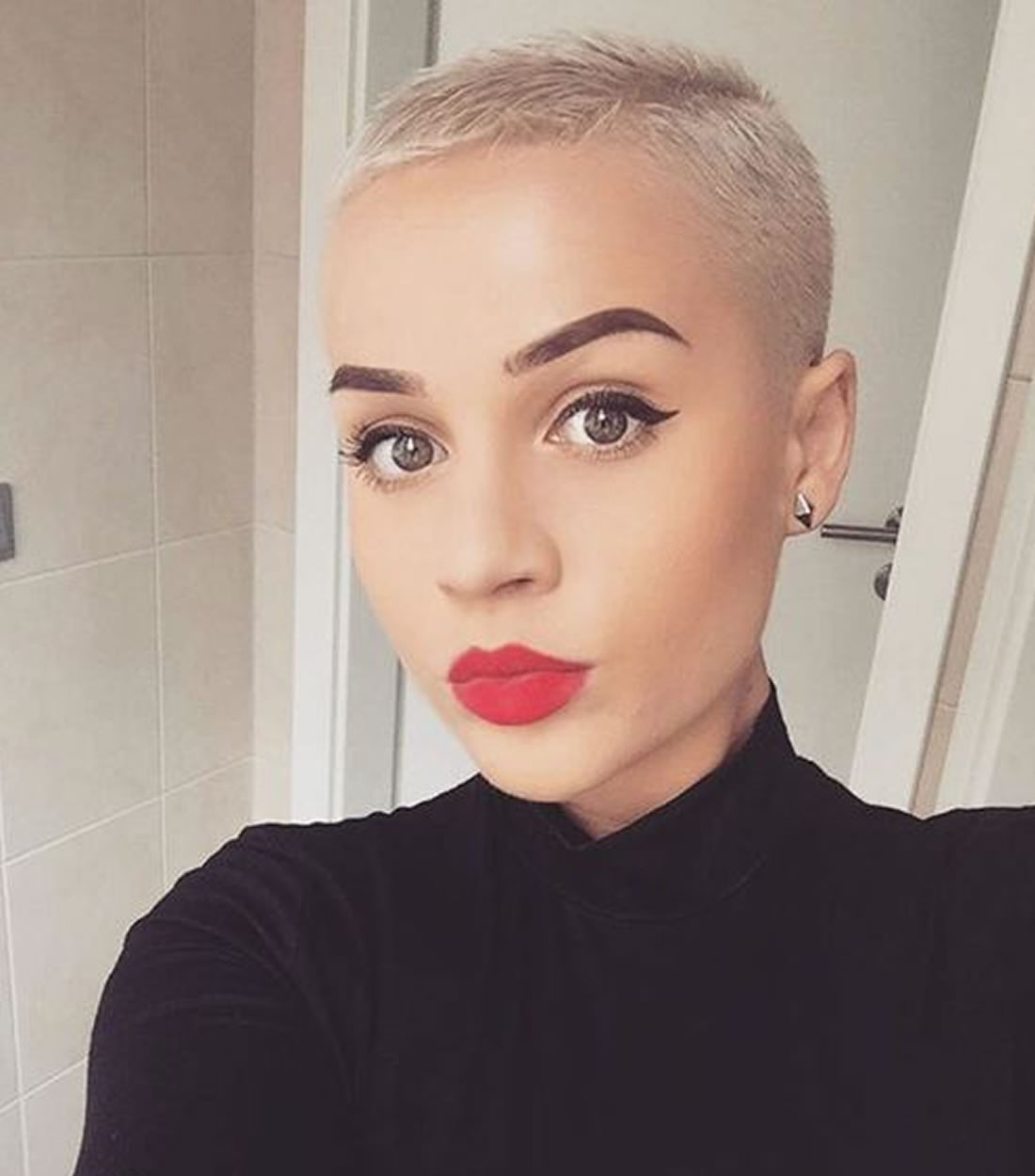Best ideas about Female Shaved Head Hairstyles . Save or Pin 32 Exquisite African American Short Haircuts and Now.