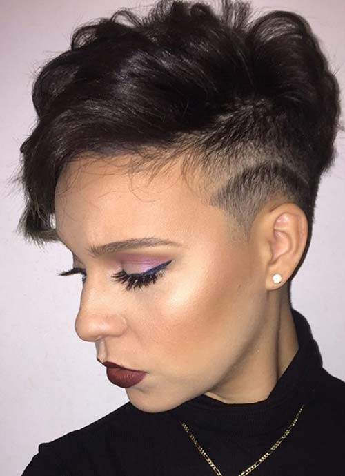 Female Undercut Hairstyle  100 Short Hairstyles for Women Pixie Bob Undercut Hair