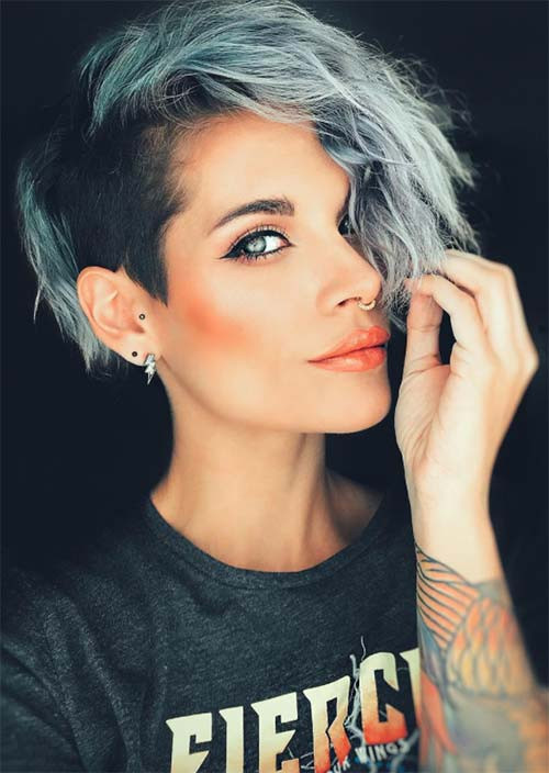 Female Undercut Hairstyle  51 Edgy and Rad Short Undercut Hairstyles for Women Glowsly