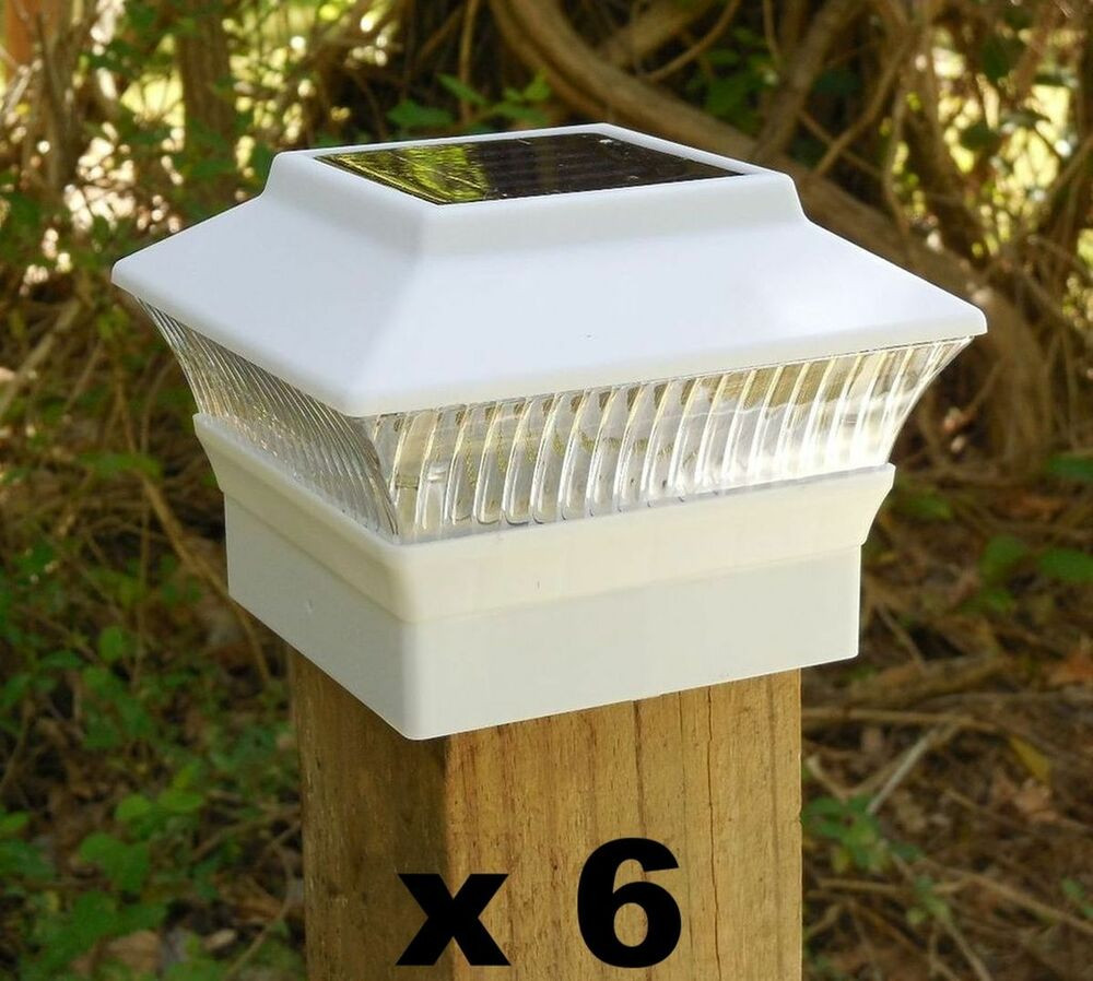 """Best ideas about Fence Post Lights . Save or Pin 6 Solar Fence Post Cap Lights 3 5 8"""" x 3 5 8"""" for 4x4 Wood Now."""