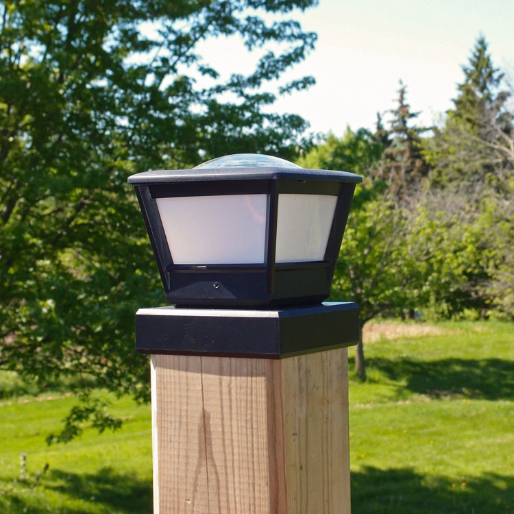 Best ideas about Fence Post Lights . Save or Pin Fence Post Solar Light by Free Light 5x5 and 6x6 Post Cap Now.