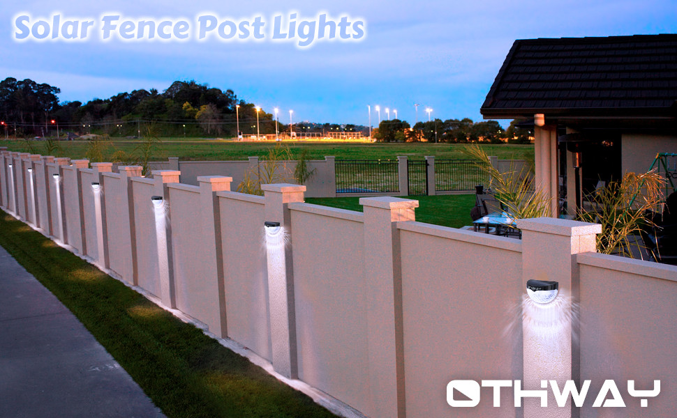 Best ideas about Fence Post Lights . Save or Pin OTHWAY Solar Fence Post Lights Wall Mount Decorative Deck Now.
