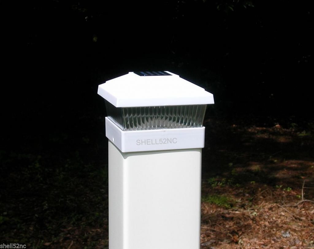 Best ideas about Fence Post Lights . Save or Pin White Solar Fence Post Cap Lights – Outdoor Decorations Now.