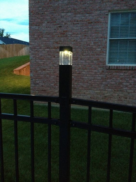 Best ideas about Fence Post Lights . Save or Pin DIY fence post lights $3 solar lights from Tar Fit Now.