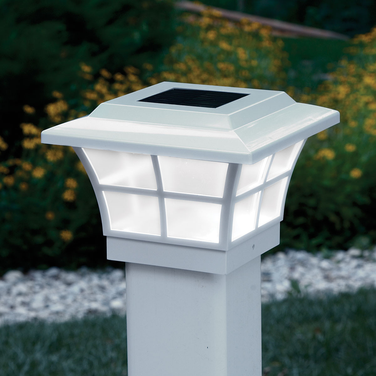 Best ideas about Fence Post Lights . Save or Pin Prestige Solar Lighted Post Caps White from Sporty s Now.