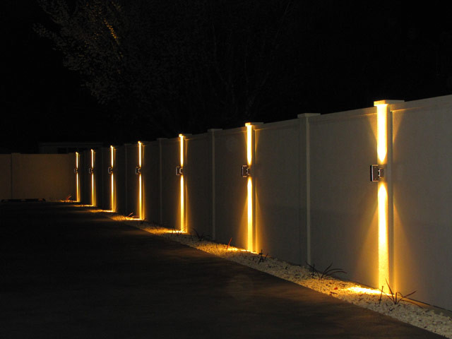 Best ideas about Fence Post Lights . Save or Pin Is It Possible To Light Up Your Fence Straight Line Fence Now.