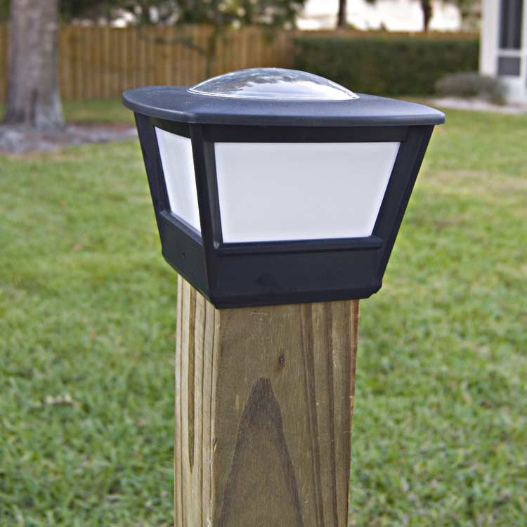 Best ideas about Fence Post Lights . Save or Pin 4x4 Fence Post Solar Light by Free Light 4x4 Post Cap Now.
