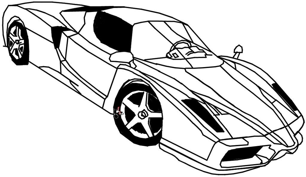 Ferrari Coloring Pages For Kids  Car Coloring Pages