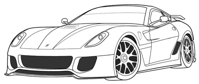 Ferrari Coloring Pages For Kids  ferrari 1 coloring pages