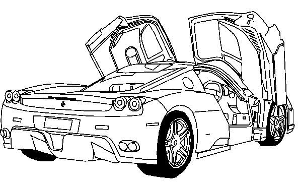 Ferrari Coloring Pages For Kids  Deluxe Ferrari Sport Car Coloring Page Ferrari car