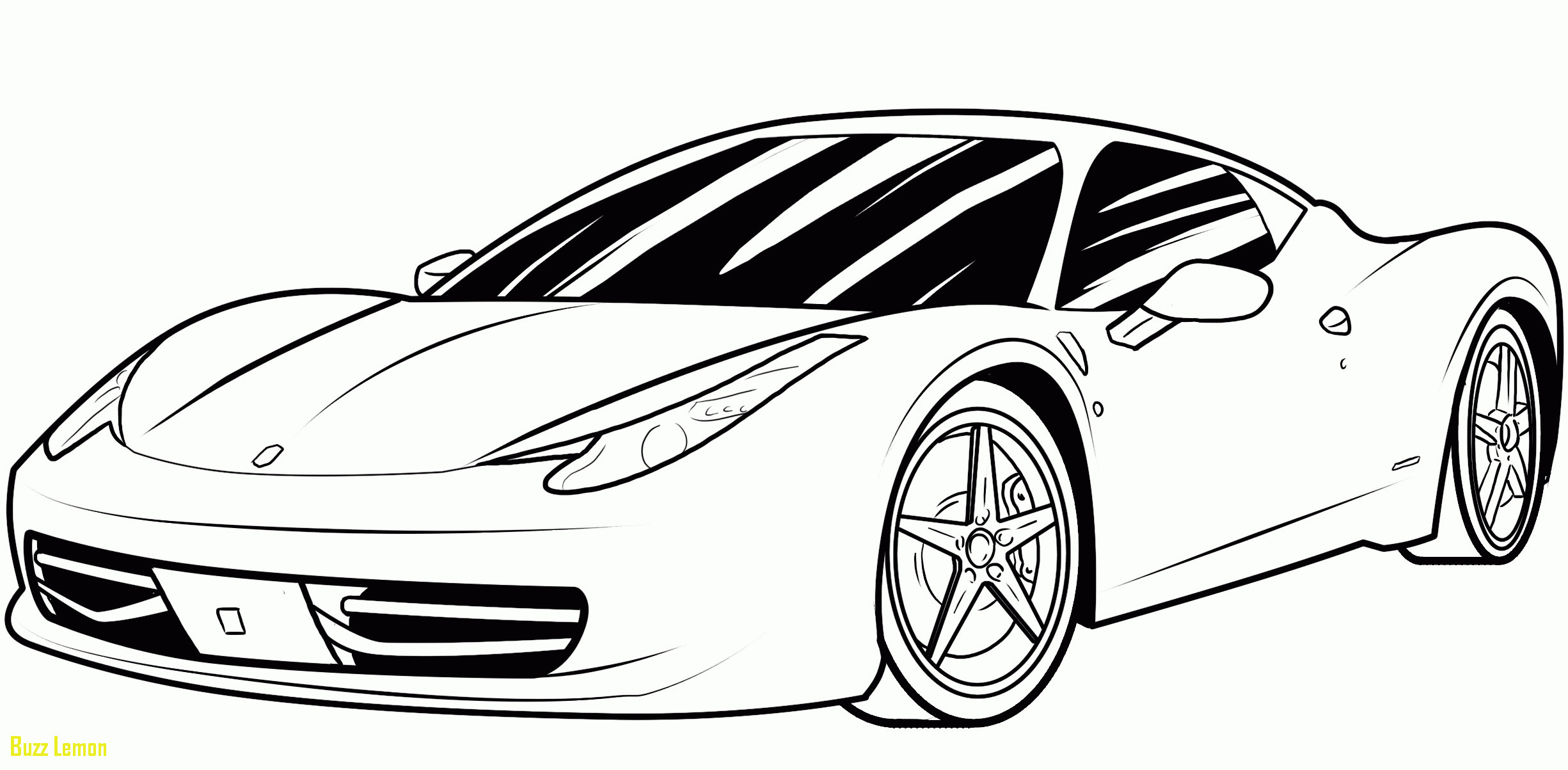 Ferrari Coloring Pages For Kids  Ferrari Coloring Sheet thekindproject