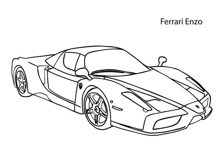 Ferrari Coloring Pages For Kids  Super car Ferrari Enzo coloring page cool car printable