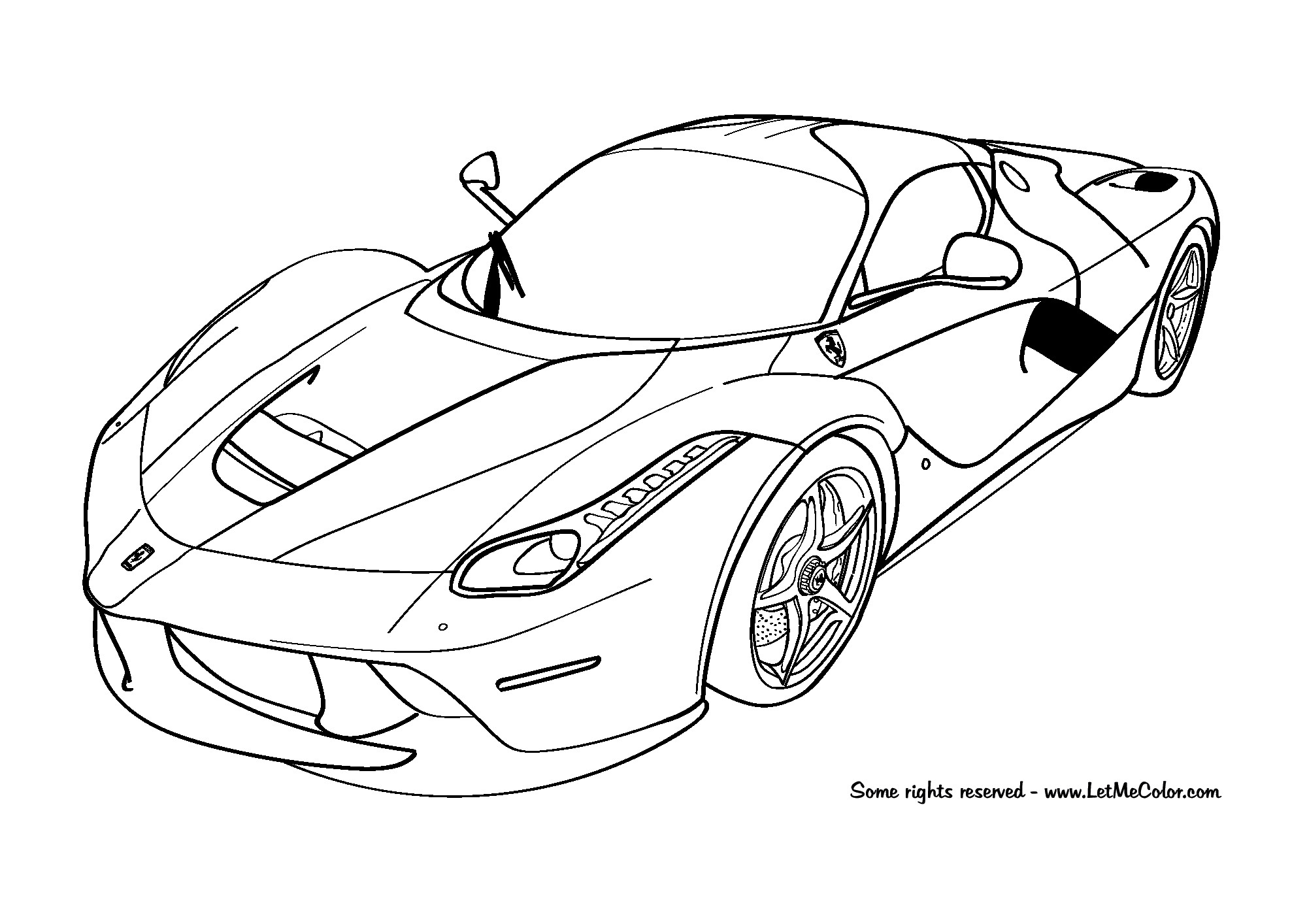Ferrari Coloring Pages For Kids  coloring cars – LetMeColor