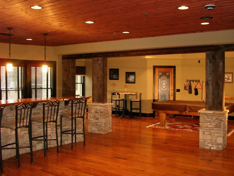 Best ideas about Finish Basement Ideas . Save or Pin Basement Decorating Ideas Around a Pole Now.