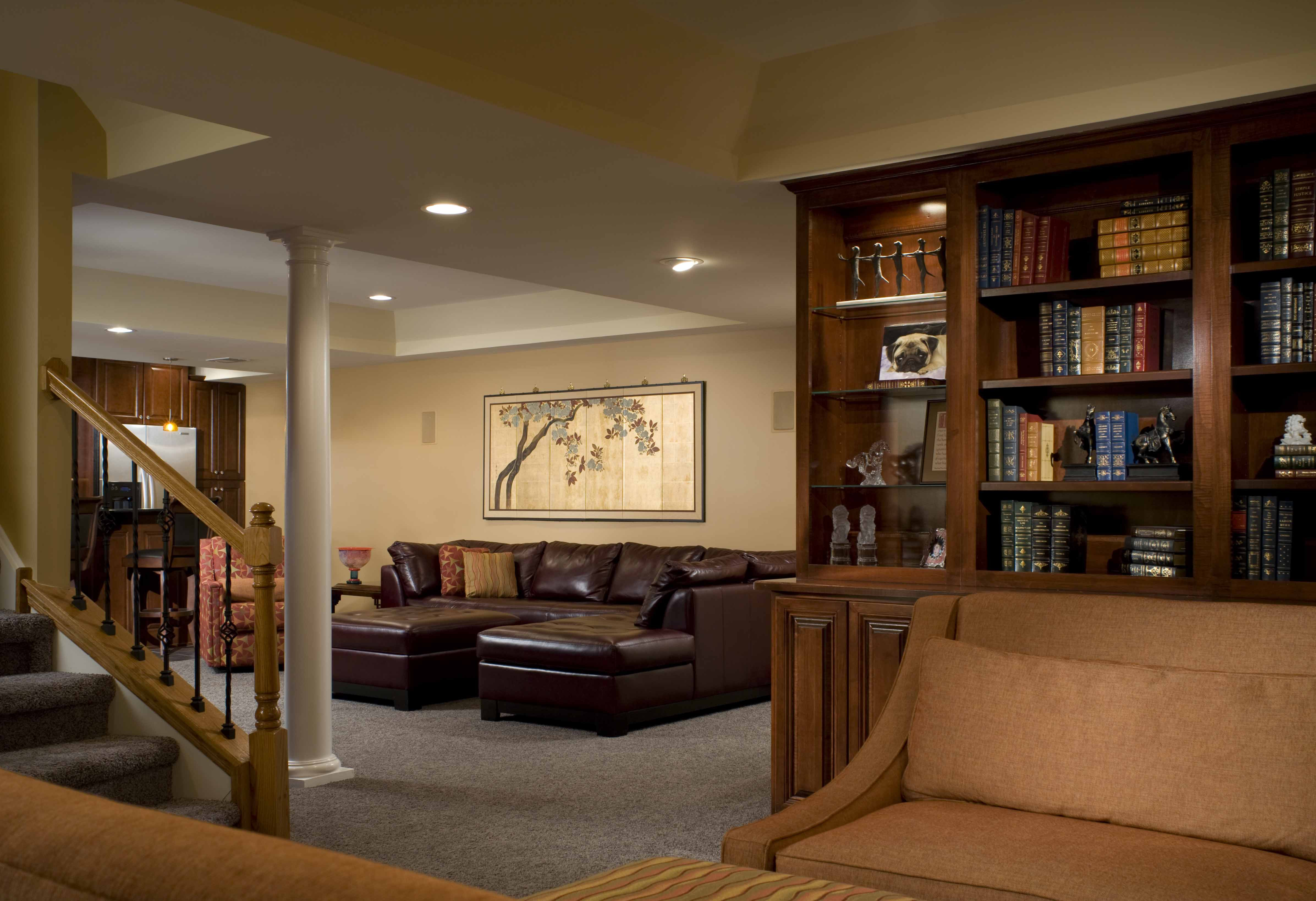 Best ideas about Finishing A Basement Ideas . Save or Pin Cool Basement Ideas For Lounging Area Now.