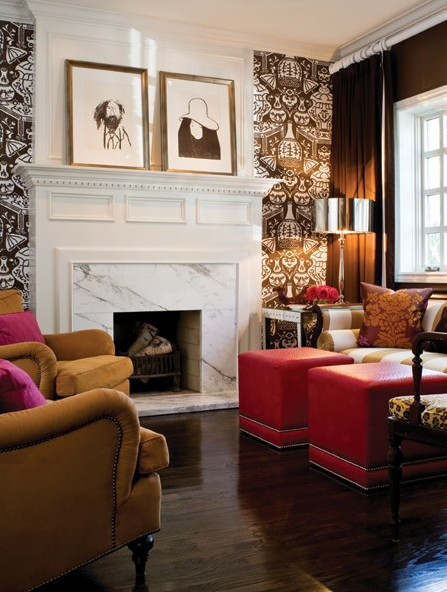 Best ideas about Fireplace Accent Walls . Save or Pin Trends in wallpaper accent walls Now.