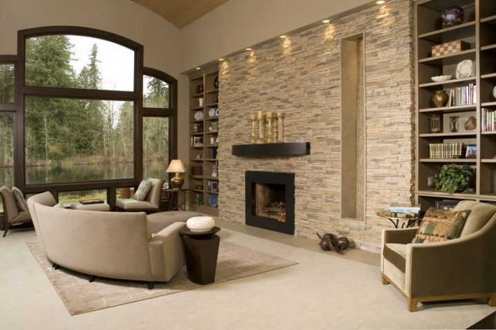 Best ideas about Fireplace Accent Walls . Save or Pin Stacked Stone Fireplaces For A Warm And Modern Look The Now.