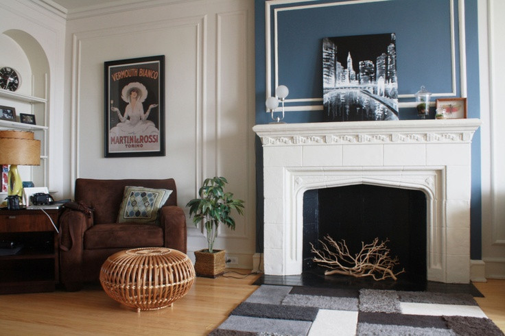 Best ideas about Fireplace Accent Walls . Save or Pin Fireplace accent wall Living Room Now.