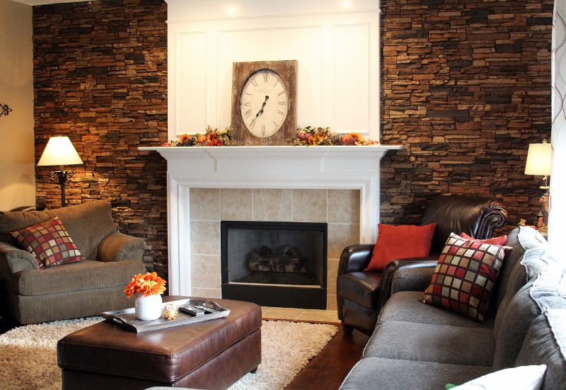 Best ideas about Fireplace Accent Walls . Save or Pin Matching Bathroom & Fireplace Accent Walls Now.
