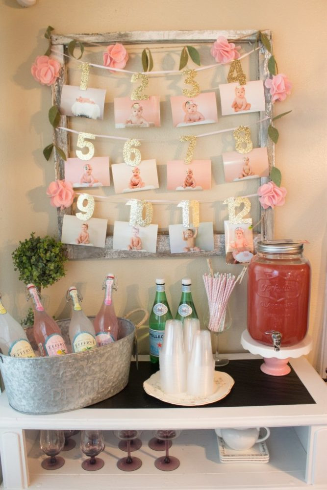 Best ideas about First Birthday Party Themes . Save or Pin 21 Pink and Gold First Birthday Party Ideas Pretty My Party Now.