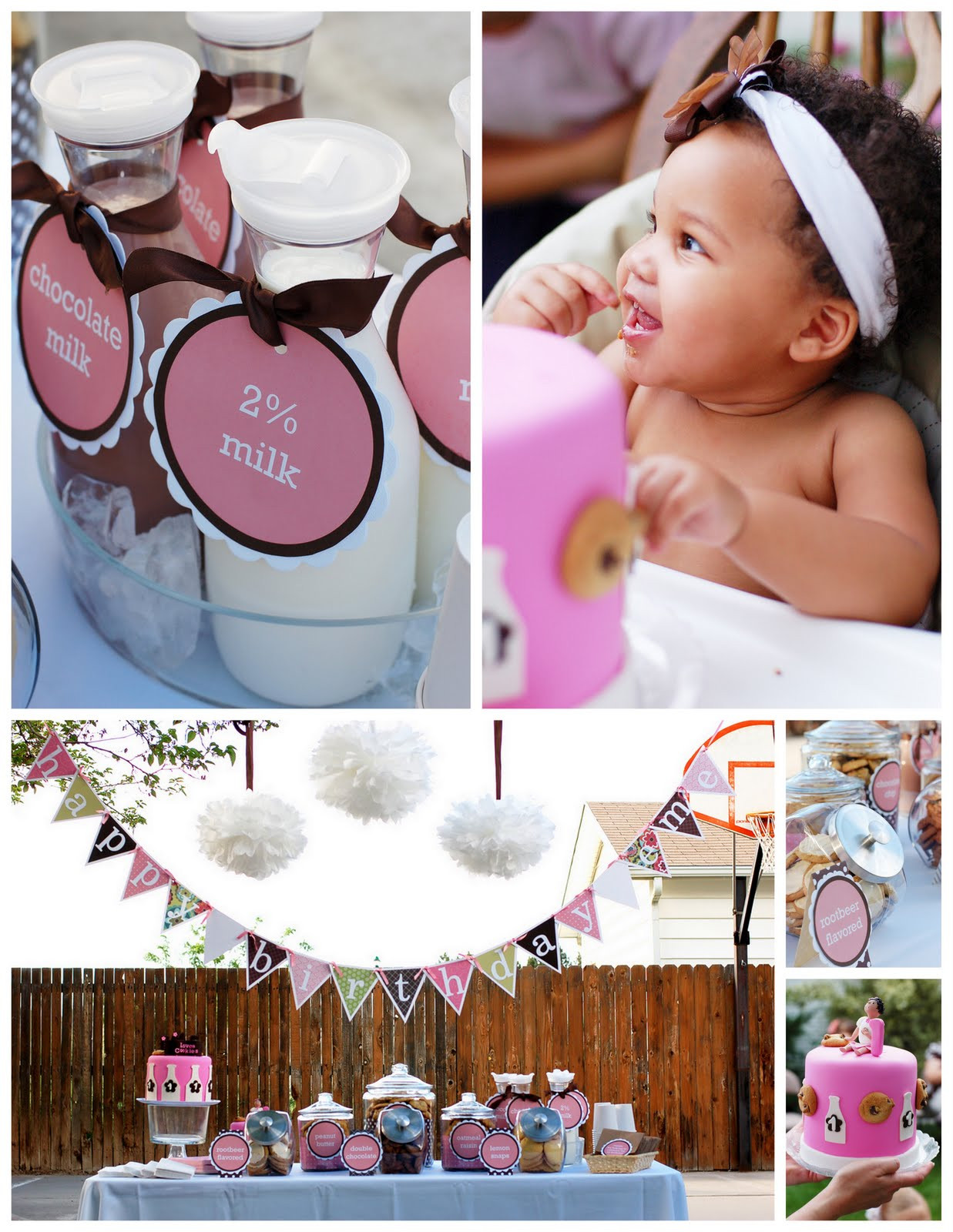 Best ideas about First Birthday Party Themes . Save or Pin Kara s Party Ideas Cookies and Milk 1st Birthday Now.