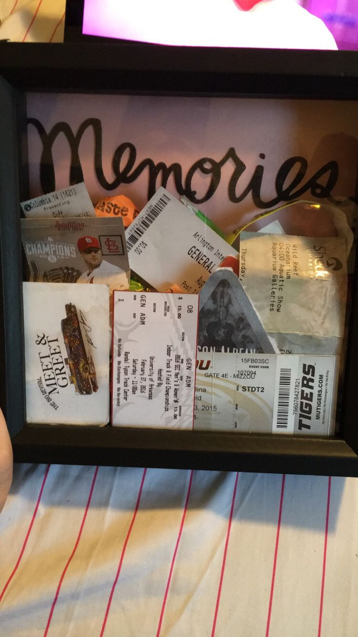 First Christmas With Boyfriend Gift Ideas  17 Best ideas about Shadow Box on Pinterest