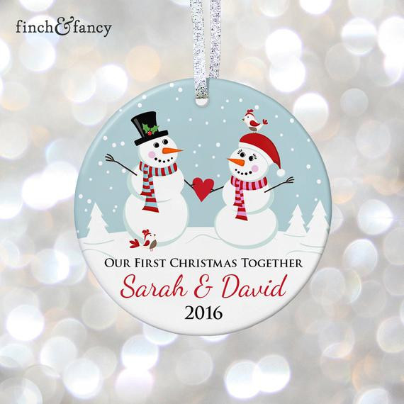 First Christmas With Boyfriend Gift Ideas  Boyfriend and Girlfriend Ornament 1st Christmas To her Gift