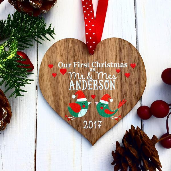 First Christmas With Girlfriend Gift Ideas  Our first Christmas decoration First Christmas as Mr and