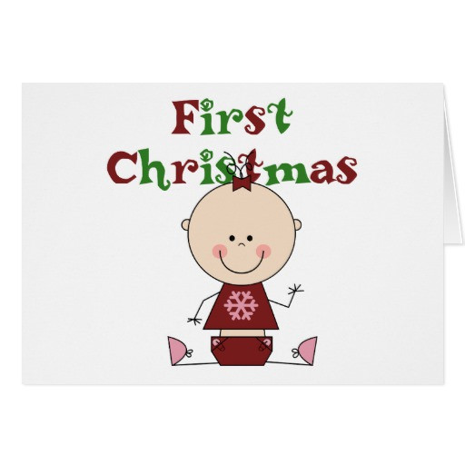 First Christmas With Girlfriend Gift Ideas  Baby Girl First Christmas T shirts and Gifts Card