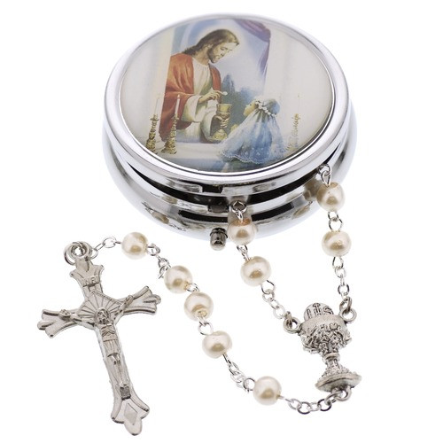 First Communion Gift Ideas For Girls  Girls First munion Rosary Gift Set
